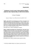 """Báo cáo khoa học: """"Prediction of acorn crops in three species of North American oaks: Quercus alba, Q rubra and Q velutina"""""""