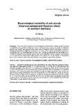 """Báo cáo khoa học: """"Morphological variability of oak stands (Quercus petraea and Quercus robur) in northern Germany"""""""