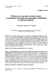 """Báo cáo khoa học: """"Differences of genetic variation based isozymes of primary and secondary metabolism in Quercus petraea"""""""