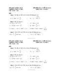 Đề kiểm tra đại số lớp 11 - 1