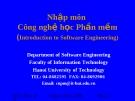 Nhập môn Công nghệ học Phần mềm