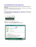 Cách cài đặt KIS 2011_KAV 2011 bằng Key file