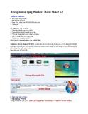 Hướng dẫn sử dụng Windows Movie Maker 6.0