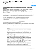 """Báo cáo y học: """"Cognitive status and behavioral problems in older hospitalized patients"""""""