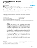 "Báo cáo y học: ""Behavioral and antioxidant activity of a tosylbenz[g]indolamine derivative. A proposed better profile for a potential antipsychotic agent"""