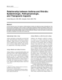"""Báo cáo y học: """"Relationship between Asthma and Rhinitis: Epidemiologic, Pathophysiologic, and Therapeutic Aspects"""""""