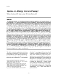 "Báo cáo y học: "" Update on Allergy Immunotherapy"""