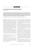 """Báo cáo y học: """"Immunotherapy with Allergen Peptides"""""""