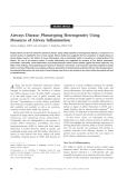 """Báo cáo y học: """"Airways Disease: Phenotyping Heterogeneity Using Measures of Airway Inflammation"""""""
