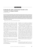 """Báo cáo y học: """"Evaluating the Safety of Intranasal Steroids in the Treatment of Allergic Rhinitis"""""""