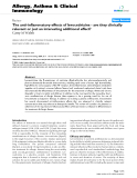"""Báo cáo y học: """"The anti-inflammatory effects of levocetirizine - are they clinically relevant or just an interesting additional effect"""""""