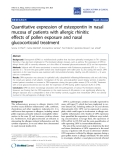 """Báo cáo y học: """"Quantitative expression of osteopontin in nasal mucosa of patients with allergic rhinitis: effects of pollen exposure and nasal glucocorticoid treatment"""""""
