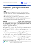 "Báo cáo y học: ""Anaphylaxis to hyperallergenic functional foods"""