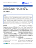 """Báo cáo y học: """"Nutritional management of Eosinophilic Gastroenteropathies: Case series from the community"""""""