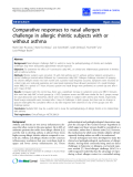 """Báo cáo y học: """"Comparative responses to nasal allergen challenge in allergic rhinitic subjects with or without asthma"""""""