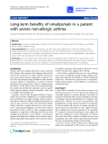 "Báo cáo y học: ""Long-term benefits of omalizumab in a patient with severe non-allergic asthma"""