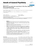 """Báo cáo y học: """"Risk factors associated with mental illness in Oyo State, Nigeria: A Community based study"""""""