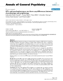 """Báo cáo y học: """"QTc and psychopharmacs: are there any differences between monotherapy and polytherapy"""""""