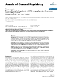 "Báo cáo y học: ""Personality styles in patients with fibromyalgia, major depression and healthy controls"""