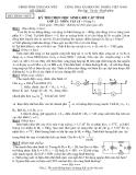 Đề thi học sinh giỏi cấp tỉnh Vật lý 12