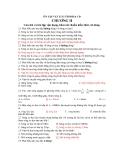 ÔN TẬP VẬT LÍ 12 THI ĐH & CĐ - CHƯƠNG II