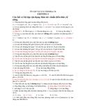 ÔN TẬP VẬT LÍ 12 THI ĐH & CĐ -  CHƯƠNG I
