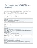 Tạo Virus dưới dạng _VBSCRIPT hoặc _Javascript