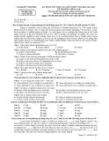 Đề thi tuyển sinh vào lớp 10 môn Tiếng Anh năm 2011-2012 - Sở GD&ĐT Vĩnh Phúc (Mã đề 493)