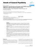 "Báo cáo y học: ""Adaptation of the Emotional Contagion Scale (ECS) and gender differences within the Greek cultural context"""