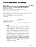 """Báo cáo y học: """"Functional magnetic resonance imaging (fMRI) of attention processes in presumed obligate carriers of schizophrenia: preliminary findings"""""""