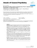 "Báo cáo y học: ""Revisiting the Dexamethasone Suppression Test in unipolar major depression: an exploratory study"""