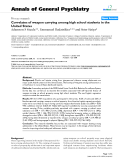 """Báo cáo y học: """"Correlates of weapon carrying among high school students in the United States"""""""