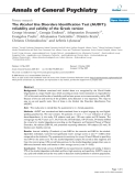 """Báo cáo y học: """"he Alcohol Use Disorders Identification Test (AUDIT): reliability and validity of the Greek version"""""""