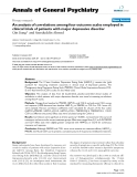"Báo cáo y học: ""An analysis of correlations among four outcome scales employed in clinical trials of patients with major depressive disorder"""