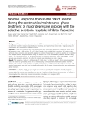 "Báo cáo y học: ""Residual sleep disturbance and risk of relapse during the continuation/maintenance phase treatment of major depressive disorder with the selective serotonin reuptake inhibitor fluoxetine"""