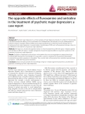 "Báo cáo y học: ""The opposite effects of fluvoxamine and sertraline in the treatment of psychotic major depression: a case report"""
