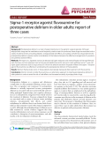 "Báo cáo y học: ""Sigma-1 receptor agonist fluvoxamine for postoperative delirium in older adults: report of three cases"""