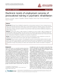 "Báo cáo y học: ""Diachronic trends of employment outcome of prevocational training in psychiatric rehabilitation"""