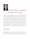 Lịch Sử Việt Nam: Bạch Thái Bưởi