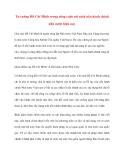 Tài liệu Tư tưởng Hồ Chí Minh: Tư tưởng Hồ Chí Minh trong công cuộc cải cách nền hành chính nhà nước hiện nay