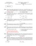 Đề thi thử đại học - vật lý