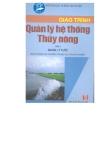 Giáo trình quản lý hệ thống thủy nông tập 1 part 1