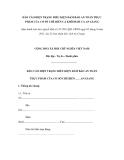 MẪU BÁO CÁO HIỆN TRẠNG ĐIỀU KIỆN ĐẢM BẢO AN TOÀN THỰC PHẨM CỦA CƠ SỞ CHẾ BIẾN CÁ KHÔ/MẮM CÁ AN GIANG