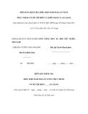 MẪU BIÊN BẢN KIỂM TRA ĐIỀU KIỆN ĐẢM BẢO AN TOÀN THỰC PHẨM CƠ SỞ CHẾ BIẾN CÁ KHÔ/ MẮM CÁ AN GIANG