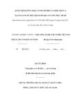 MẪU QUYẾT ĐỊNH CÔNG NHẬN CƠ SỞ CHẾ BIẾN CÁ KHÔ/ MẮM CÁ TẠI AN GIANG ĐỦ ĐIỀU KIỆN ĐẢM BẢO AN TOÀN THỰC PHẨM