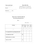 Mẫu Báo cáo lưu chuyển tiền tệ (Theo phương pháp gián tiếp)