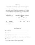MẪU SỐ 01 VĂN BẢN YÊU CẦU THỰC HIỆN ỦY THÁC TƯ PHÁP VỀ DÂN SỰ