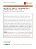 "báo cáo khoa học: ""Pathogenesis, diagnosis and management of primary melanoma of the colon"""