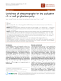 """báo cáo khoa học: """"Usefulness of ultrasonography for the evaluation of cervical lymphadenopathy"""""""