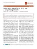 """báo cáo khoa học: """"Inflammatory pseudo-tumor of the liver: a rare pathological entity"""""""